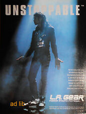 MICHAEL JACKSON - L.A. GEAR UNSTOPPABLE, INVINCIBLE 2 ADVERTS/ADS 1990, 2001