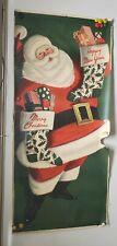 "Original Vintage Christmas Santa Claus Poster, Happy New Year 72"" x 32"""