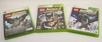 LEGO Batman 1 2 3 Bonus Pure by XBOX 360 Game Lot Tested!