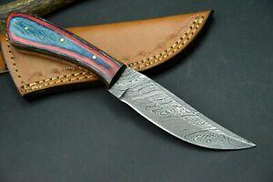 Jagdmesser Damastmesser Taschenmesser HANDARBEIT Damast Skinner Damaststahl #54