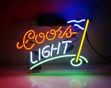 """Coors Light"" Masters Golf Flag Neon Sign Light Boutique Shop Room Wall Decor"