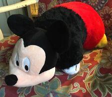 "Disney Mickey Mouse Pillow Pet 18"" Nap Pillow Bedtime Plush Stuffed Animal EUC!"