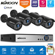 Kkmoon 4/8Ch H.265+ 5Mp Lite Dvr 1080P Outdoor Cctv Home Security Camera System