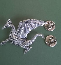 Dragon Pewter Pin, hand crafted in Cornwall