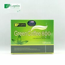 Leptin Green Coffee 800 Slimming Tea Weight Loss 18 sachets, 5g each sachet