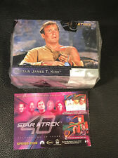 Star Trek 40th Anniversary 90 Card Complete Base Set + P1 Promo Card