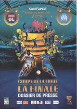 PROGRAMME FOOTBALL FINALE COUPE DE LA LIGUE 2012: OM MARSEILLE - OL LYON