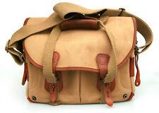 Billingham 205 Camera Bag - Khaki Canvas + Tan Leather - Vintage Shoulder Bag