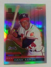 2000 Topps Hank Aaron Chrome Refractor Reprint #44 Milwaukee Braves BV$25
