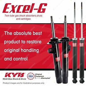 Front + Rear KYB EXCEL-G Shock Absorbers for BMW E46 318i 320D I4 DT4 RWD