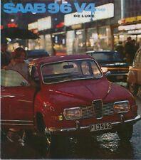 Saab 96 V4 Standard & De Luxe 1968-69 Original UK Foldout Sales Brochure F.40039