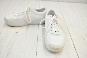 **Vans Ward Platform Skateboarding Sneakers, Women's Size 5.5, White
