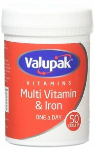 L@@K Valupak Multivitamins & Iron | 3-PACK = 150 TABLETS | PREPPER SUPPLY !!