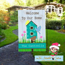 Custom Personalized Welcome Friends Personalized Garden Flag/Birds Summer/ Yard
