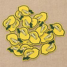 Patch Gelb Zitrone Form Stickerei Applikation Kawaii 20x Aufnäher Kleidung Deko
