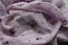 netting dress fabric light lilac colour small flowers tiny silver specks -5 mtrs