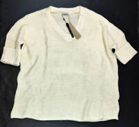 Noisy May Oversized Knitted Pullover Sweater, Cream, Medium MSRP $49.00