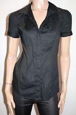 TARGET City Dressing Black Short Sleeve Collar Shirt Blouse Size 10 BNWT #TR19