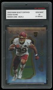 CHASE YOUNG 2020 PANINI SELECT CERTIFIED #SCR-2 1ST GRADED 10 ROOKIE CARD RC