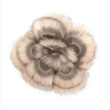 Fendi corsage brooch Brown fur Woman Authentic Used T8416