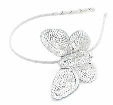 Zest Girls Sequinned Butterfly Alice Band Hair Accessory Silver