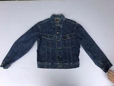 Vtg Lee 101 J Jean Jacket Red Label Blue Denim Sanforized Trucker Mens 40