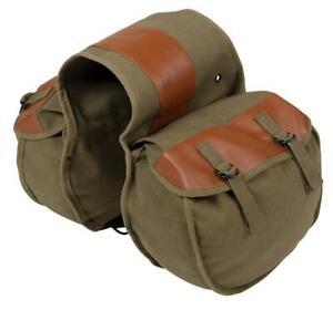 Stansport 766 Dog Saddle Bag - Olive Drab