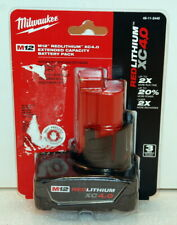 Milwaukee 48-11-2440 M12 12V Lithium-Ion XC Extended Capacity Battery Pack 4.0Ah