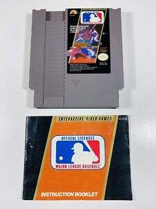 MLB NES Nintendo Original MAJOR LEAGUE BASEBALL Game + INSTRUCTIONS MANUAL