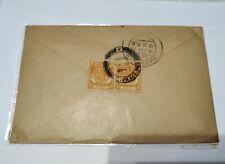 1936 SS KGV King George V Letter 4c 2v setenant, Penang to India, Tamil writing