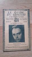 El Guía de La Concierto Y Las Teatro Letra - Robert Casadesus - N º 25-1928