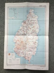1967 Map of Saint Lucia by Directorate of Overseas Surveys
