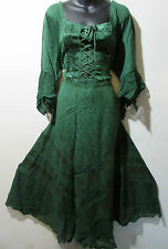 Christmas Holiday Green Dress Fits 1X 2X Plus Corset Lace Up Chest & Hem NWT 522