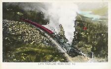 CPR Main Line Near Yoho BC Train Railways CP Rail Real Photo Postcard D18
