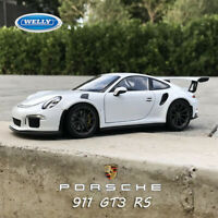 WELLY 1:24 White 2016 Porsche 911 GT3 RS Diecast Metal Model Sports Car Vehicle