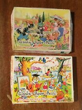 2 x Vintage Castles Children's Wooden Jigsaw Puzzles 20 Piece 3 - 5 yrs 20 x 15