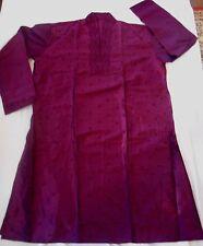 C58 Eminence Purple Men's Indian Silk Kurta Pyjama Mens Outfit - Bollywood party