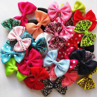 NE_ 10Pcs Lovely Baby Toddler Girl Bowknot Dots Lacework Leopard Hair Clips Hair