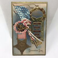 Vintage Postcard 1911 Decoration Day Antique Card Beverly Washington