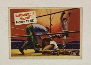 1954 Topps Scoops Boxing #65 Rocky Marciano KO Jersey Joe Walcott