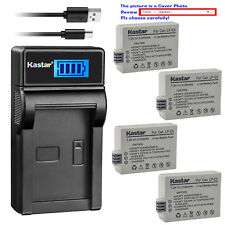 Kastar Battery LCD USB Charger for Canon LP-E5 LC-E5 & Canon EOS Kiss X2 Camera