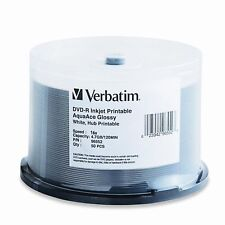 Verbatim DVD-R 4.7GB AquaAce White Glossy Inkjet 50-Pack Spindle