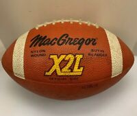 MacGregor X2L Football Ball Official Size Rubber 670