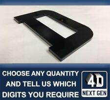 x1 4D Next Gen Laser Cut DIY Number Plate Characters Letter BLACK Letters Kit D