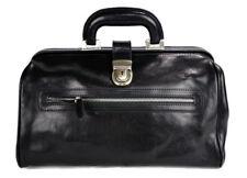 Borsa medico pelle doctor bag nero con manico in pelle borsa pelle uomo donna