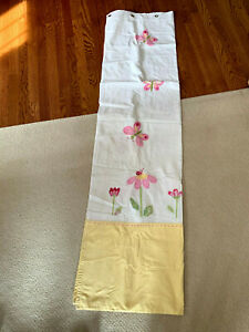 Pottery Barn Kids Butterflies and Flowers Fabric Shower Curtain