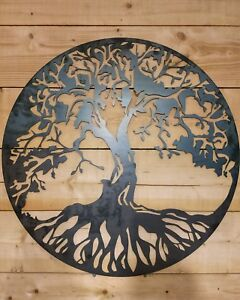 Premium Large Celtic tree of life Metal Sign Hand Finished Wall Art Irish BEST