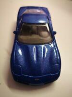 1/43 bburago Chevrolet Corvette blau metallic, unbespielt aus Sammlung ohne ovp