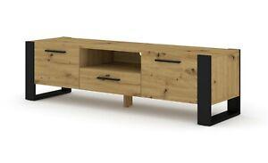 Nuka 160 cm tv cabinet tv stand oak cupboard Artisan opaque white