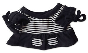 """Black Long Top with White Stripes Outfit Clothing Fits Most 8""""-10 Webkinz, Shini"""